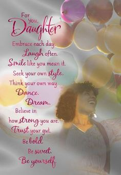 Buoyant Balloons Daughter Birthday Card, , large