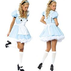 4764 sexy Alice In Wonderland costume women party cosplay adult maid fancy dress #WraithOfEast #cosplay
