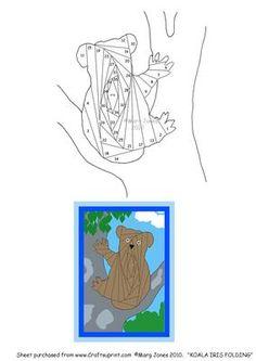 Koala Iris Folding Pattern on Craftsuprint designed by Margaret Jones - Iris Folding pattern to make a cute koala bear card for an Australian friend or relative. - Now available for download!