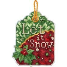 Let It Snow Counted Cross Stitch Ornament