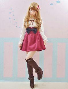 Sweet skirt kawaii Cute japanese fashion big bowknot wool suspenders skirt/H0077 · Asian fashion Kawaii · Online Store Powered by Storenvy