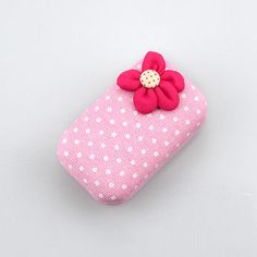 Lovely Polka Dots Flower Contact Lens Case Portable Travel Box With Mirror