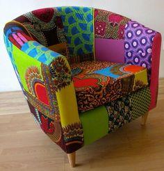 fauteuil patchwork radiant et super beau