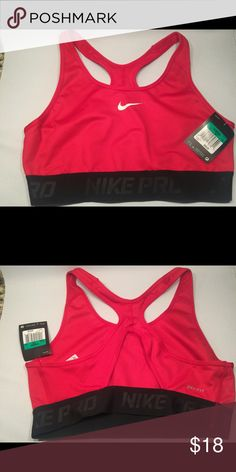 Women's Nike Hypercool Red & Black Sports Bra XL Nike Hypercool Brand New Sports Bra. 88% Polyester 12% Spandex. Size XL Nike Intimates & Sleepwear Bras