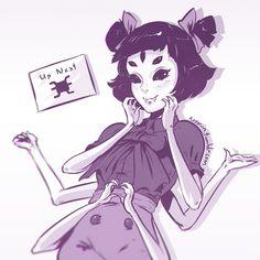 Koyorin,Anime Art,Аниме арт, Аниме-арт,Anime,аниме,Monster Girl,Monster Girls,Muffet,Spider Girl,Undertale