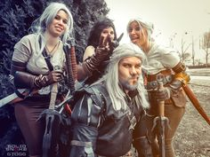 Our Witcher Cosplay group... in a really serious mood :) https://www.facebook.com/SolidSnakeCosplay  #witcher #geralt #yennefer #ciri