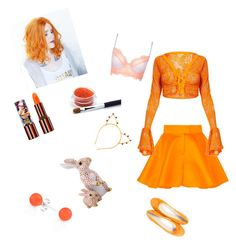 """""""The Orange Fairy"""" by kaytlynhunter on Polyvore featuring beauty, Talbot Runhof, Topshop, Paolo Shoes, Teeez, Bling Jewelry and Herend"""
