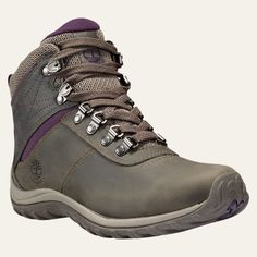 The Norwood women's waterproof hiking boots from Timberland have sleek, trail-ready good looks.