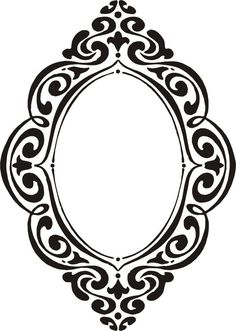 Curly Monogram Frame - machine embroidery design - Comes in inch Sizes Arabesque, Macabre Decor, Decoupage, Stencils, Borders And Frames, Monogram Frame, Swirls, Machine Embroidery Designs, Designer