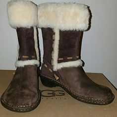 New Ugg Eliijo Suede Sheepskin Cuff Ankle Boot New Ugg Eliijo Suede Sheepskin Cuff Ankle Boot UGG Shoes Ankle Boots & Booties