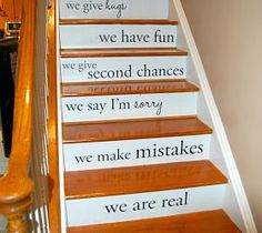 Stair decals:  DIY Ideas, Photos and Answers :: Hometalk