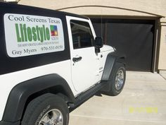 Start Living the Lifestyle today with a garage door screen @coolscreenstexas@hotmail.com