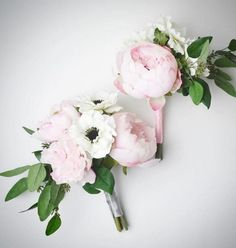 Bridesmaid bouquets don't have to be big to be beautiful! Loved putting these peony, anemone, hydrangea and eucalyptus bouquets together for a wonderful bride!