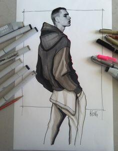 Design & Illustration by Paul Keng Model: Jonathan Bauer-Hayden | The Fashionisto