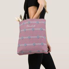 Chic Girly Diamond Elegant Rhinestone Pearl Tote Bag Personalized Tote Bags, Custom Tote Bags, String Of Pearls, Blush Pink, Reusable Tote Bags, Girly, Monogram, Glamour, Elegant