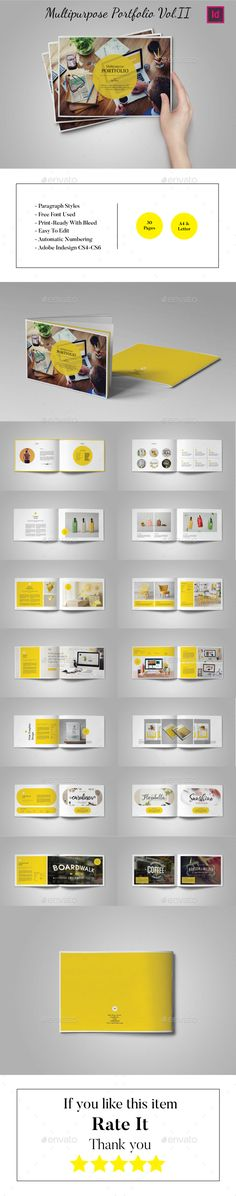 [ Multipurpose Landscape Portfolio Vol Brochure Template And Indesign Indd ] - Best Free Home Design Idea & Inspiration Printed Portfolio, Portfolio Book, Portfolio Layout, Portfolio Design, Portfolio Ideas, Book Design Layout, Print Layout, Indesign Templates, Brochure Template