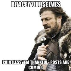 With Thanksgiving around the corner…