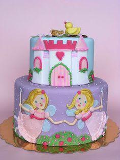 Para fiesta de princesas. Tartas originales.