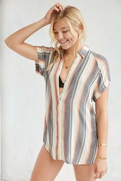 BDG Azura Button-Down Top - Urban Outfitters
