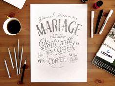 Beautiful hand drawn typography | Mariage by Olga Vasik