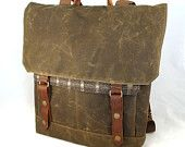 Brownie Waxed Canvas Backpack