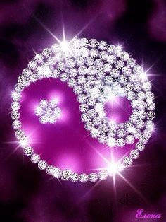 Animated Purple Bling Ying Yang wallpaper, screensavers for cell Purple Love, All Things Purple, Shades Of Purple, Pretty In Pink, Yin Yang, Live Wallpapers, Wallpaper Backgrounds, Iphone Wallpapers, Animiertes Gif
