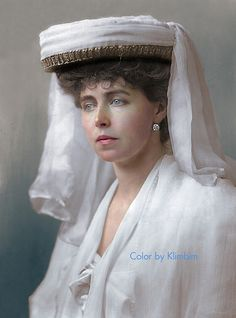 Princess Marie of Romania May European Royal Houses King Queen Princess, Queen Mary, Romanian Royal Family, Maud Of Wales, Alexandra Feodorovna, Colorized Photos, Character Makeup, Casa Real, English Royalty