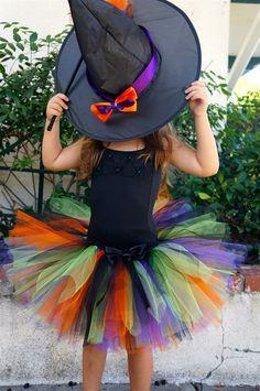 Halloween Tutu- Candy Corn & Witch