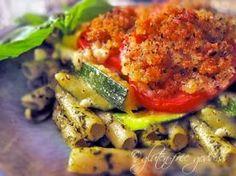 Gluten Free Recipe for Pesto Zucchini Tomato Gratin