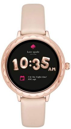 Kate Spade New York Scallop Leather Strap Touchscreen Smart Watch, 42mm
