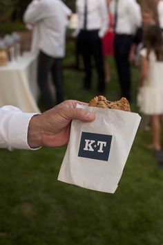 ice cream sandwiches at wedding reception