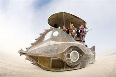 Image: The Nautilus by metal artist Sean Orlando (© Scott London, http://www.scottlondon.com/burningman)