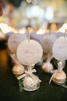 #escort-cards, #cake-pops, #bridal-shower, #party-favor Photography: Pen/Carlson - pencarlson.com/ Read More: http://www.stylemepretty.com/living/2013/10/11/the-perfect-bridal-shower-from-clementine-custom-events/