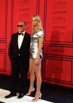 Michael Kors and Karolina Kurkova brought all the glam tonight to the #CFDAawards.  www.balharbourshops.com