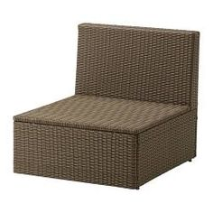 IKEA - ARHOLMA, One-seat section, outdoor, By combining different seating sections you can create a sofa in a shape and size that perfectly suits your outdoor space.Hand-woven plastic rattan looks like natural rattan but is more durable for outdoor use.The materials in this outdoor furniture require no maintenance.Easy to keep clean – just wipe with a damp cloth.Adjustable feet provides stability on uneven floors.