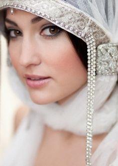 Awesome Muslim Wedding Dresses Art Deco bridal veil cap - a STUNNING one-off handmade piece using vintage. Bridal Hijab, Bridal Hair, Hijab Bride, Wedding Veils, Wedding Dresses, Wedding Hair, Wedding Headpieces, Fascinators, Bridal Headdress