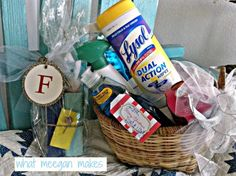 housewarming gift basket all green cleaning products. Black Bedroom Furniture Sets. Home Design Ideas