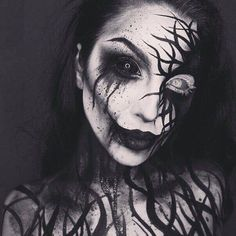 Halloween Tattoo designs considered as attractive tattoo. Ink your self with Festive tattoo Pumpkin Tattoos and many more on halloween day. Creepy Makeup, Horror Makeup, Sfx Makeup, Cosplay Makeup, Costume Makeup, Makeup Art, Demon Makeup, Amazing Halloween Makeup, Halloween Looks