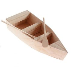 Unfinished Wooden Row Boat with Oars - Wood Miniatures - Wood Crafts - Craft Supplies Wooden Row Boat, Wooden Boat Building, Boat Building Plans, Wooden Swings, Make A Boat, Build Your Own Boat, Diy Boat, Plywood Boat Plans, Wooden Boat Plans