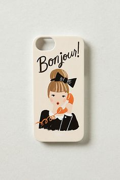 Bonjour iPhone 5 Case #luvocracy #graphicdesign #illustration #iphonecase