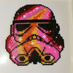 Bright hama bead storm trooper picture