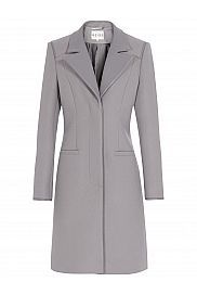Reiss Covent Leather Collar Coat, Grey £350 to £195 Buy at Home of Fashion. #coat #wintercoat #sale #fashion