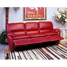 I Ordered 10 Swatches Omnia Furniture Luxor Leather Reclining Sofa Reviews Wayfair Red