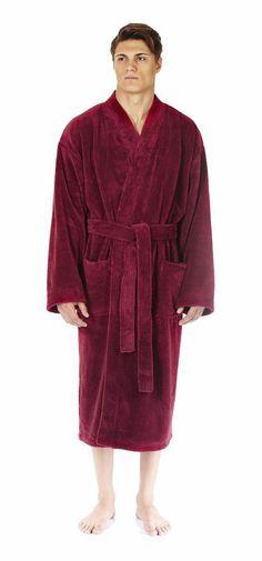 a8d0414045 Arus Men s Kimono Fleece Bathrobe Turkish Soft Plush Robe  fashion   clothing  shoes