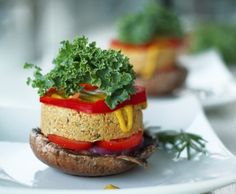 Raw Vegan Portobello Mushroom Burgers