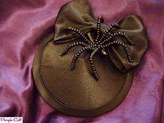 Black Satin Spider Halloween Rockabilly Goth Burlesque Fascinator Hat | eBay