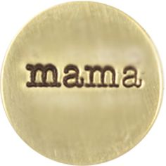 SMALL GOLD MAMA / GOLD PLATES | ORIGAMI OWL CUSTOM JEWELRY | STAMPED PLATE www.fb.com/origamiowlbystacie