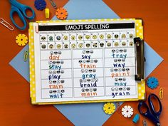 😜😍Editable Spelling Activities😂 I'm bringing out all of my favorite emojis for this resource! You'll LOVE the different activities, like this EMOJI writing! Your students will go crazy over this one!😱😉 This resource is designed for ANY spelling list! Spelling Lists, Spelling Activities, Vocabulary Activities, Spelling Words, Silly Sentences, Synonyms And Antonyms, Spelling Patterns