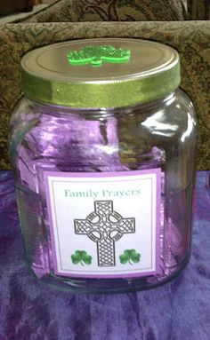 Our Family Lenten Journey On Ash Wednesday, we hide the Alleluia. I just made a simple banner of card stock, gold flowers, gold. Prayer Jar, Prayer Chain, Children's Church Crafts, Catholic Crafts, Catholic Kids, Church Activities, Easter Activities, Days Until Easter, 40 Days Of Lent