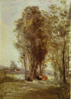 Corot Landscape Paintings | Jean-Baptiste Camille Corot Landscape